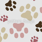 Sweet Cat Paws Seamless Vector Pattern Design