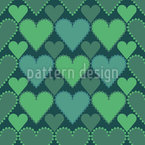 Check With Hearts Repeat Pattern