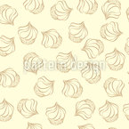 Muffins With Cream Seamless Vector Pattern Design