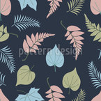 Variation Of Leaves Seamless Vector Pattern Design