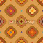 Vintage Abstract Flowers Repeat Pattern