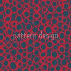 Variation de cercle griffonné Motif Vectoriel Sans Couture