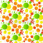 Watercolor Drops Seamless Vector Pattern Design