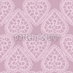 Grandmas Hearts Pale Rose Seamless Vector Pattern Design