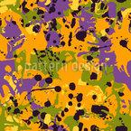 Abstract Pumpkin Soup Seamless Vector Pattern Design