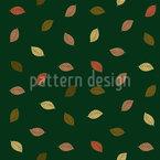 Trickling Leaves Seamless Vector Pattern Design