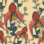 Spring Bell Seamless Vector Pattern Design