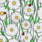 Acquaintance Of Daisies Seamless Vector Pattern Design