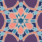 Courted Flowers Vector Ornament