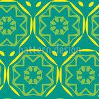 Mandala Blätter Nahtloses Vektormuster