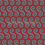 Espirais Cancan Design de padrão vetorial sem costura