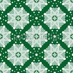 Madeira Anêmona Na Neve Design de padrão vetorial sem costura