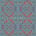 Eighties Fireworks Seamless Vector Pattern Design