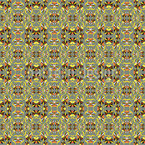 Spiky Flowers Kaleidoscope Seamless Vector Pattern Design