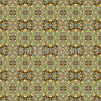 Spitzblumen Kaleidoskop Nahtloses Vektormuster