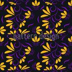 Fan Flowers Seamless Vector Pattern Design