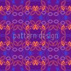Symmetrical Flower Floating Seamless Vector Pattern Design
