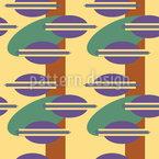 Achtziger Jahre Ufo Nahtloses Vektormuster