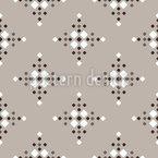 Snowflake Check Seamless Vector Pattern Design