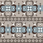 Rhombus Cloverleaf Seamless Vector Pattern Design