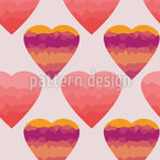 Polygon Hearts Pattern Design