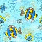 Peixe no Mar Design de padrão vetorial sem costura