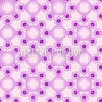 Dame Violet Design de padrão vetorial sem costura