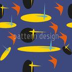 Achtziger Jahre Surfbrett Muster Design