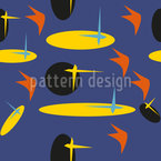 Eighties Surfboard Seamless Vector Pattern Design