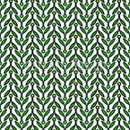 Minimalistic Foliage Vector Pattern