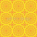 太陽のタイル シームレスなベクトルパターン設計