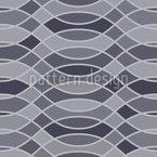 Linhas entrelaçadas onduladas Design de padrão vetorial sem costura