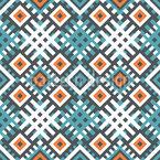 Ethno Geométrico Design de padrão vetorial sem costura
