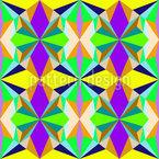 Strahlendes Kaleidoskop Vektor Design