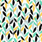 Leaves On Twigs Seamless Vector Pattern Design