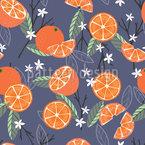 Summer Orange Seamless Vector Pattern Design