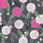 Dragon Fruit Party Seamless Vector Pattern Design