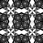 Black White Seamless Vector Pattern Design