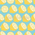 Reihen Von Zitronen Nahtloses Vektormuster