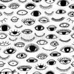 Augen Und Wimpern Nahtloses Vektormuster