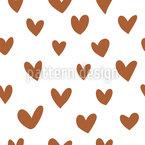 Süße Kleine Herzen Nahtloses Vektormuster