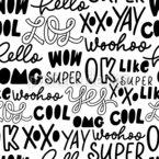 Jugendsprache Nahtloses Vektormuster