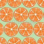 夏らしいオレンジ シームレスなベクトルパターン設計