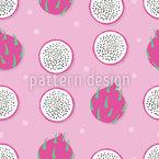 Süße Drachenfrucht Nahtloses Vektormuster