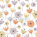 Floral Summer Paradise Seamless Vector Pattern Design