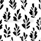Brush Branches Seamless Vector Pattern Design