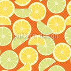 Frische Limetten Und Zitronen Nahtloses Vektormuster