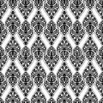Black Damask Seamless Vector Pattern Design
