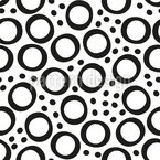Dots And Rings Seamless Vector Pattern Design