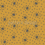 Dandelions On A Windy Day Seamless Vector Pattern Design